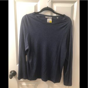 NWT Vince blue long sleeved t-shirt, Small